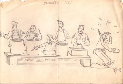 Basic Training Drawing During Our Basic Training